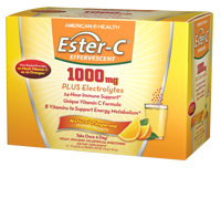 Image of Ester-C 1000 mg Plus Electrolytes Effervescent Powder Tangerine