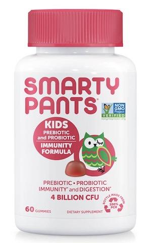 Image of Kids Prebiotic & Probiotic Immunity Formula 4 Billion Gummies Strawberry Cream