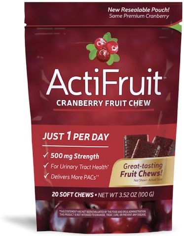 Image of ActiFruit Cranberry Fruit Chews 500 mg