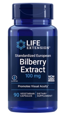 Image of Bilberry Extract  100 mg (Standardized European)