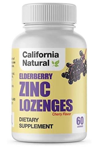 Image of Elderberry Zinc Lozenges Cherry