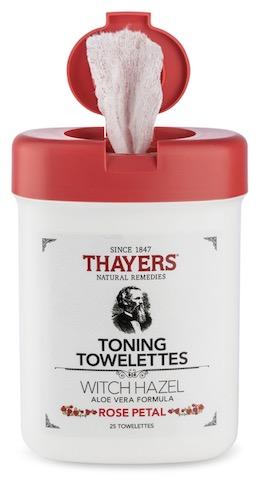 Image of Witch Hazel Toning Towelettes Alcohol-Free Rose
