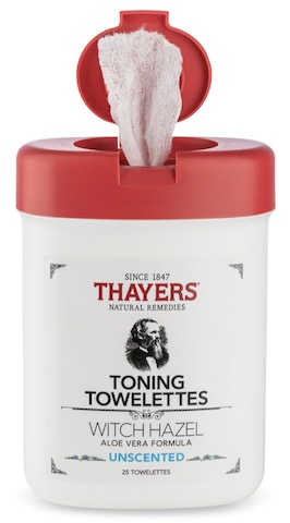 Image of Witch Hazel Toning Towelettes Alcohol-Free Unscented
