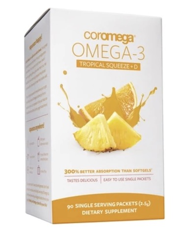 Image of Omega-3 2000 mg + D Liquid Packet Tropical Squeeze