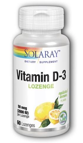 Image of Vitamin D3 50 mcg (2000 IU) Sublingual Lemon