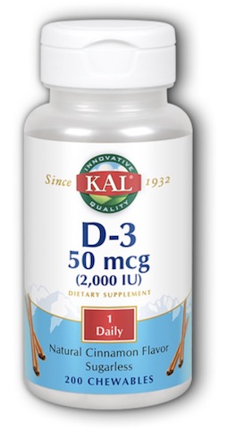 Image of D3 50 mcg (2000 IU) Chewable Cinnamon Sugarless