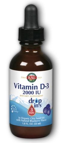 Image of D3 50 mcg (2000 IU) Dropins Liquid Blueberry
