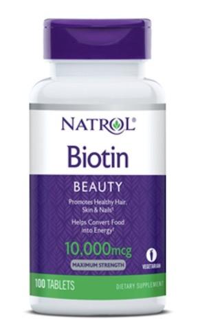 Image of Biotin 10,000 mcg Maximum Strength Tablet