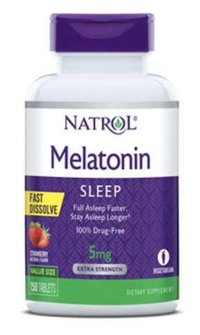 Image of Melatonin 5 mg Fast Dissolve Strawberry