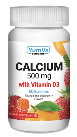 Image of Calcium with Vitamin D3 250 mg/12.5 mcg Gummies Orange & Strawberry