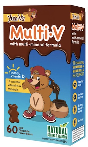 Image of Kids Multi-V with Multi-Minerals Gummy Bears Chocolate