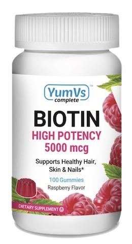 Image of Biotin 5000 mcg (5 mg) Gummies Raspberry