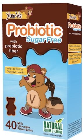 Image of Kids Probiotic with Prebiotic Fiber 1.5 Billion Gummies Milk Chocolate SugarFree
