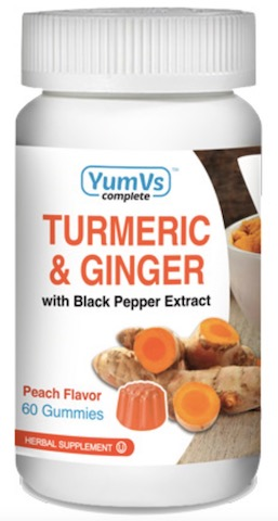 Image of Turmeric & Ginger with Black Pepper Gummies Peach