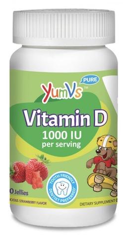 Image of Kids Vitamin D3 1000 IU (25 mcg) Jellies Berry