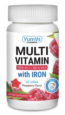 Image of Multivitamin & Multimineral with Iron Jellies Raspberry