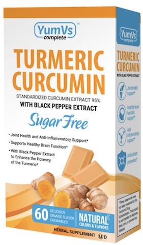 Image of Turmeric Curcumin Orange Crème Bites 100 mg (with Black Pepper) Sugar-Free