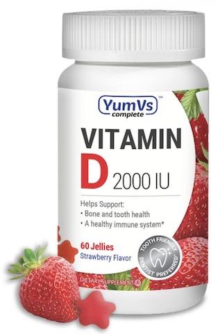 Image of Vitamin D3 2000 IU (50 mcg) Jellies Strawberrt