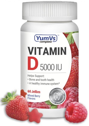Image of Vitamin D3 5000 IU (125 mcg) Jellies Mixed Berry
