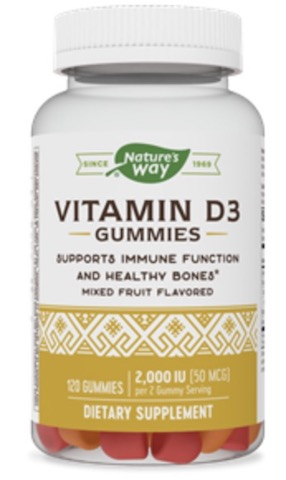 Image of Vitamin D3 Gummies 50 mcg (2,000 IU -  25 mcg each)