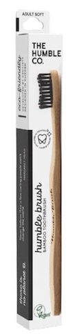 Image of Toothbrush Adult Humble Brush Bamboo Soft Blalck