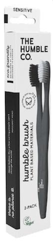 Image of Toothbrush Adult Humble Brush Plant-Based Sensitive White/Black
