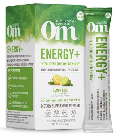 Image of Energy + Mushroom Blend Drink Mix Lemon Lime