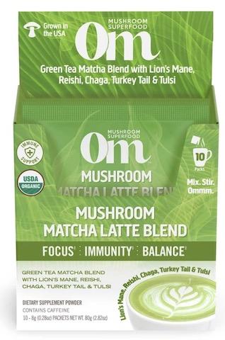 Image of Mushroom Matcha Latte Blend Powder Organic