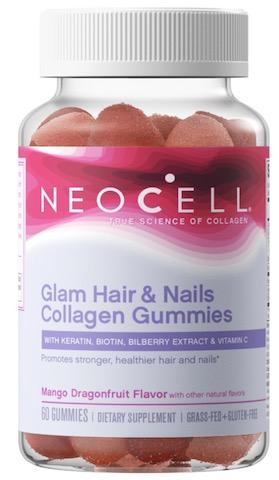 Image of Glam Hair & Nails Collagen Gummies Mango Dragonfruit