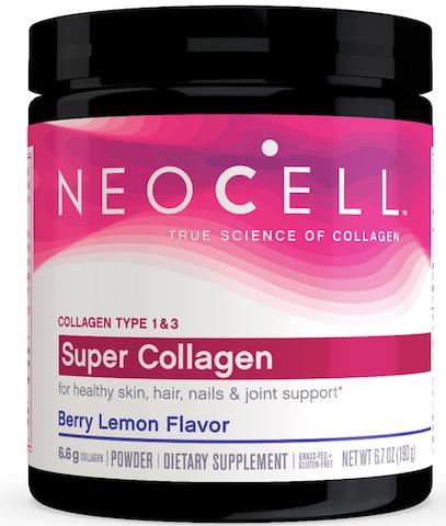 Image of Super Collagen Type 1 & 3 Powder Raspberry Lemon