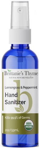 Image of Hand Sanitizer Spray Organic Lemongrass & Peppermint