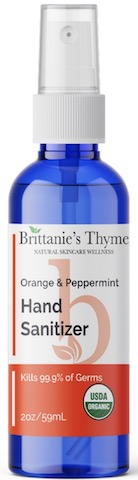 Image of Hand Sanitizer Spray Organic Orange & Peppermint
