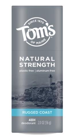 Image of Deodorant Stick Men's Natural Strength Plastic Free Rugged Coast