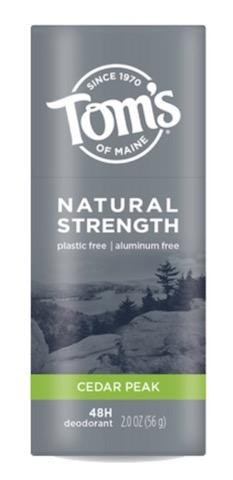 Image of Deodorant Stick Men's Natural Strength Plastic Free Cedar Peak