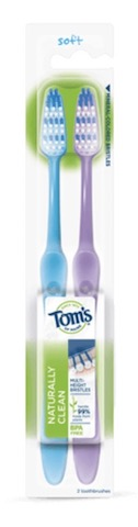 Image of Toothbrush Naturally Clean Soft Twin Pack