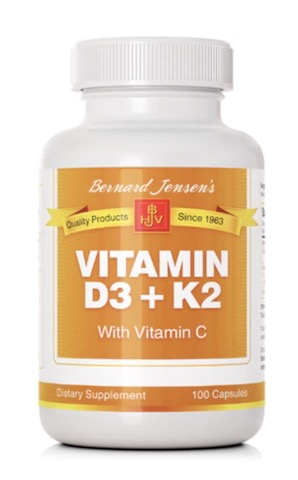 Image of Vitamin D3+K2 with Viamin C 12.5/225 mcg/250 mg