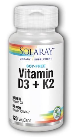 Image of Vitamin D3 + K2 5000 IU/50 mcg