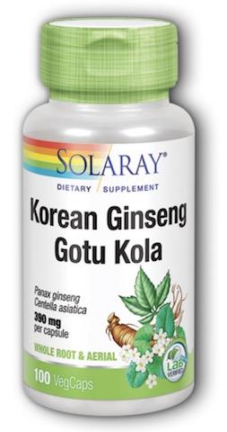 Image of Korean Ginseng  Gotu Kola 260/130 mg