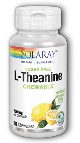 Image of L-Theanine 200 mg Chewable Lemon Lime