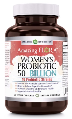 Image of Amazing Flora Women's Probiotic 50 Billion 10 Strains