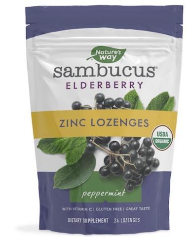 Image of Sambucus Zinc Lozenges Peppermint Organic