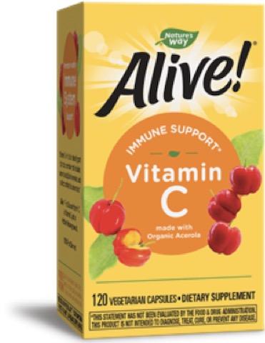 Image of Alive! Vitamin C 125 mg (Acerola) Organic