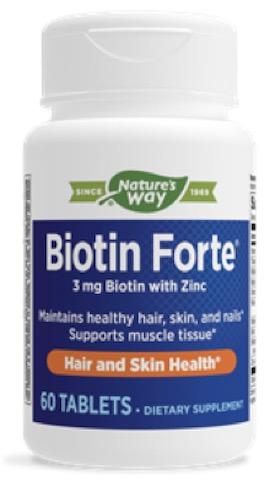 Image of Biotin Forte 3 mg with Zinc