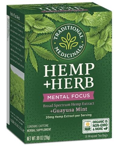 Image of Hemp + Herb Mental Focus Tea