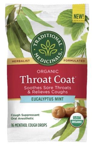Image of Throat Coat Cough Drops Eucalyptus Mint