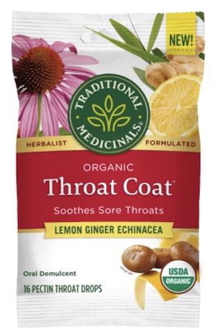 Image of Throat Coat Cough Drops Lemon Ginger Echinacea