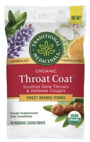Image of Throat Coat Cough Drops Sweet Orange Fennel