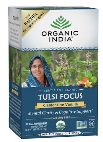 Image of Tulsi Focus Tea Clementine Vanilla