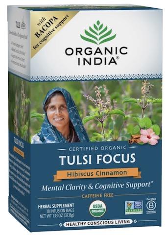 Image of Tulsi Focus Tea Hibiscus Cinnamon