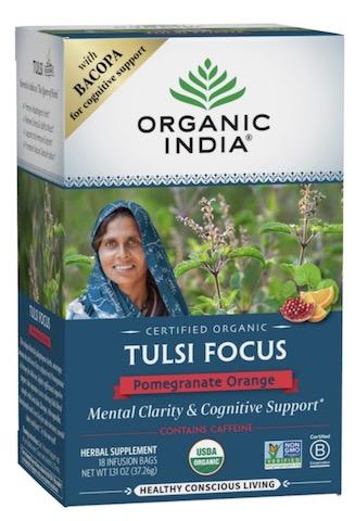 Image of Tulsi Focus Tea Pomegranate Orange